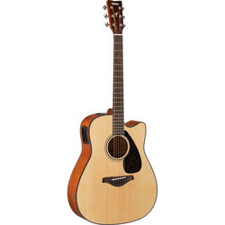 Yamaha FGX800C FGX Series Dreadnought-Style Acoustic/Electric Guitar (Natural)