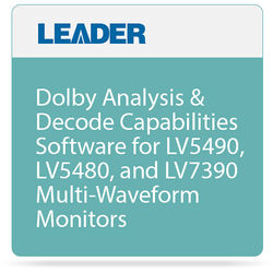 Leader Dolby Analysis & Decode Option for LV5490, LV5480, & LV7390 Monitors