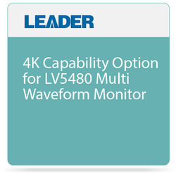 Leader 4K Capability Option for LV5480 Multi Waveform Monitor