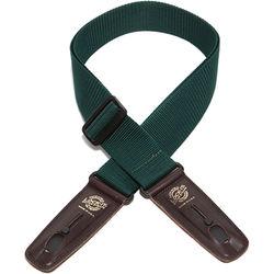 "Lock-It 2"" Professional Gig Series Guitar Strap (Hunter Green, Brown Ends)"