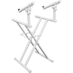 Odyssey Innovative Designs Heavy-Duty Double-Tier Folding X-Stand (White)