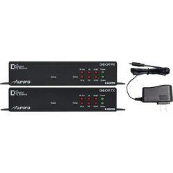 Aurora Multimedia 4K HDMI HDBaseT CAT Extender Set with RS-232, IR & LAN (Up to 600')