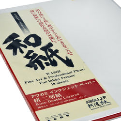 Awagami Factory Kozo Double-Layered White Fine-Art Inkjet Paper (A3+, 90 gsm, 10 Sheets)