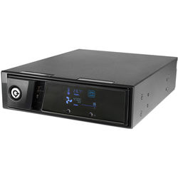 """iStarUSA 5.25 to 3.5"""" SATA/SAS 6 Gbps HDD Hot-Swap Rack with LCD"""