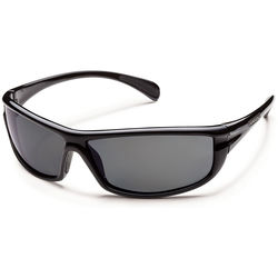 SUNCLOUD OPTICS King Sunglasses (Black Frames, Gray Polarized Lenses)