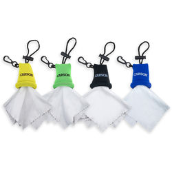 Carson Stuff-it Microfiber Cloth (Green, Yellow, Black & Blue, 4-Pack)