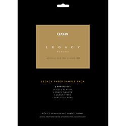 "Epson Legacy Paper Sample Pack (8.5 x 11"")"