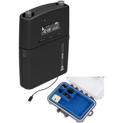 Audio Ltd. TX1010 Digital Belt Pack Transmitter with VT500 Black Lavalier Microphone for DX1010 Digital Receiver (3-Pin LEMO, Frequency Range B, 518 - 608 MHz)
