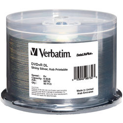 Verbatim DVD+R DL DataLifePlus Silver Recordable Disc (Spindle Pack of 50)