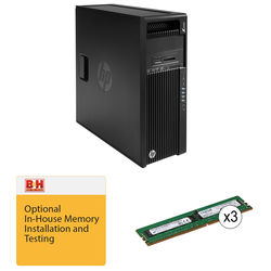 HP Z440 F1M51UT Minitower Workstation Kit with Crucial 24GB 288-Pin DDR4 RAM & B&H Installation Service