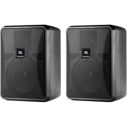 JBL Control 25-1 Compact Indoor/Outdoor Background/Foreground Speaker (Pair, Black)
