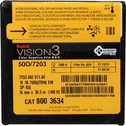 Kodak VISION3 50D Color Negative Film #7203 (16mm, 100' Roll)