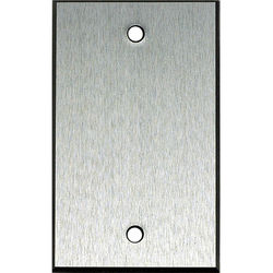 """Whirlwind 1-Gang Blank Wall Mounting Plate (.125"""" Clear Anodized Aluminum Finish)"""