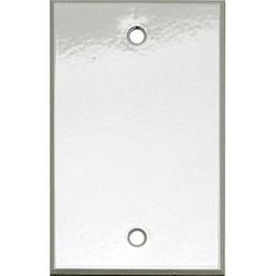 """Whirlwind 1-Gang Blank Wall Mounting Plate (.125"""" Semi-Gloss White Finish)"""
