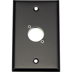 Whirlwind 1-Gang Wall Mounting Plate Punched for 1 Neutrik XLR (Black Finish)