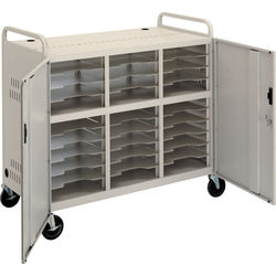 Da-Lite CT-LS30 Laptop Storage Cart with Two 16-Outlet Power Strips