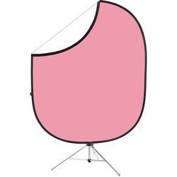 """Savage Collapsible Stand Kit (60 x 72"""", Light Pink/White)"""