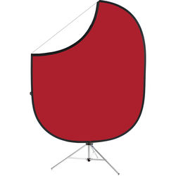 """Savage Collapsible Stand Kit (60 x 72"""", Matador Red/White)"""