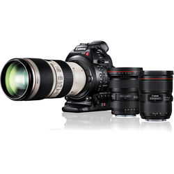 Canon EOS C100 Mark II Cinema EOS Camera with Triple Lens Kit