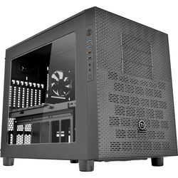 Thermaltake Core X5 E-ATX Stackable Liquid Cooling Cube Case - Black