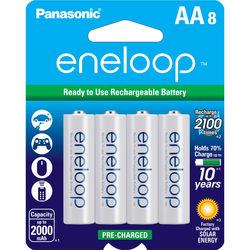 Panasonic Eneloop AA Rechargeable Ni-MH Batteries (2000mAh, Pack of 8)