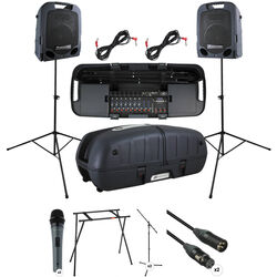 Peavey Escort 6000 Kit with 2x Microphone & Stand Packages and Escort Stand