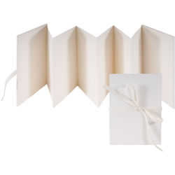 "Lineco Accordion Album with Ivory Pages & Blank Cover (5.25 x 7.25"")"