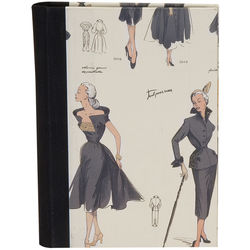 Lineco Address Book Kit with Printed Tabbed Index (Women's Fashion Cover)