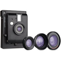 Lomography Lomo'Instant Camera & 3 Lenses (Black)
