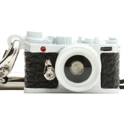 Japan Hobby Tool Miniature Range Finder Camera Charm (White)