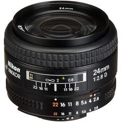Nikon AF NIKKOR 24mm f/2.8D Lens (Open Box)