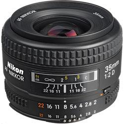 Nikon AF NIKKOR 35mm f/2D Lens (Open Box)