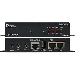 Aurora Multimedia HDBaseT Full HD over CatX Transmitter with RS-232, IR, & Dual LAN (330')