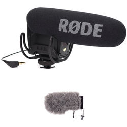 Rode VideoMic Pro with Rycote Lyre Shockmount & Windbuster Windshield Kit