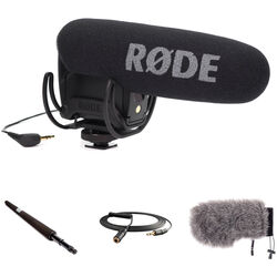 Rode VideoMic Pro with Micro Boompole and Windbuster Windshield Kit