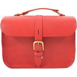Figbags The Lincoln Leather Bag (Red)