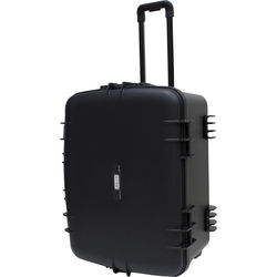 "JELCO Rugged Carry Case with Wheels, Extension Handle, and DIY Customizable Foam (25.3 x 18.6 x 11.7"")"
