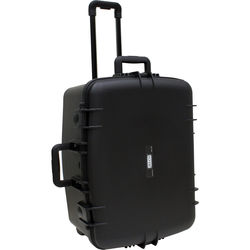 "JELCO Rugged Carry Case with Wheels, Extension Handle, and DIY Customizable Foam (27.3 x 20.5 x 13.7"")"