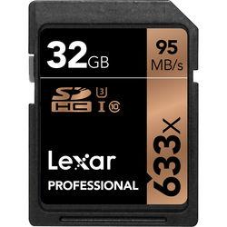 Lexar 32GB Professional UHS-I SDHC Memory Card (U3)