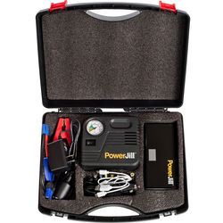 PowerJill Multi-Function Portable Jump Starter with Air Compressor (400A Peak Current, 12,000mAh)
