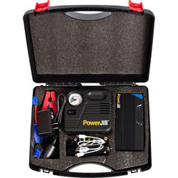 PowerJill Multi-Function Portable Jump Starter with Air Compressor (600A Peak Current, 15,000mAh)