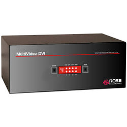 Rose Electronics MultiVideo 1x4 Dual-Link Dual-Video DVI-I Switch