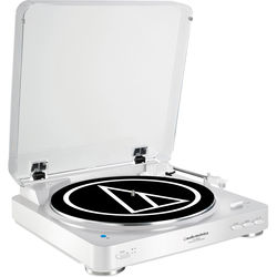 Audio-Technica Consumer AT-LP60WH-BT Turntable with Bluetooth (White)