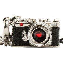 Japan Hobby Tool Miniature Swarovski Range Finder Camera Charm (Silver)