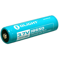 Olight 18650 Li-ion Rechargeable Battery (3.7V, 2600mAh, Retail Box)