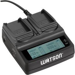 Watson Duo LCD Charger with 2 EN-EL23 Plates