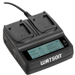 Watson Duo LCD Charger with 2 NB-11L Plates
