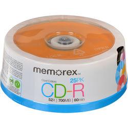 Memorex 700MB/80 Minutes CD-R Color 52X Discs (25-Pack Spindle)