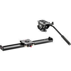 "Manfrotto Camera Slider 60cm and MVH500AH Fluid Head Kit (23.6"")"