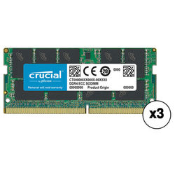 Crucial 48GB DDR4 2400 MHz SO-DIMM Memory Kit (3 x 16GB)